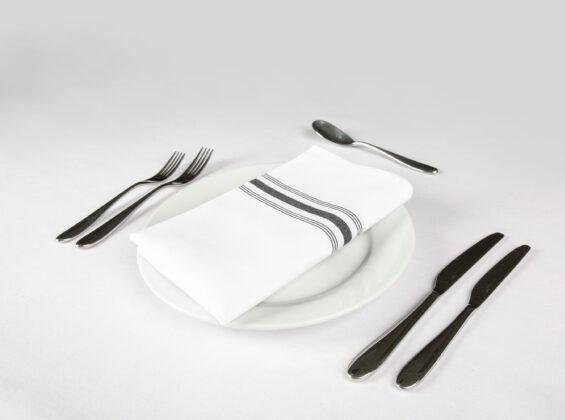Bistro Style Black Stripe Napkin