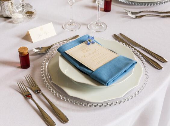 Glacier Blue napkin