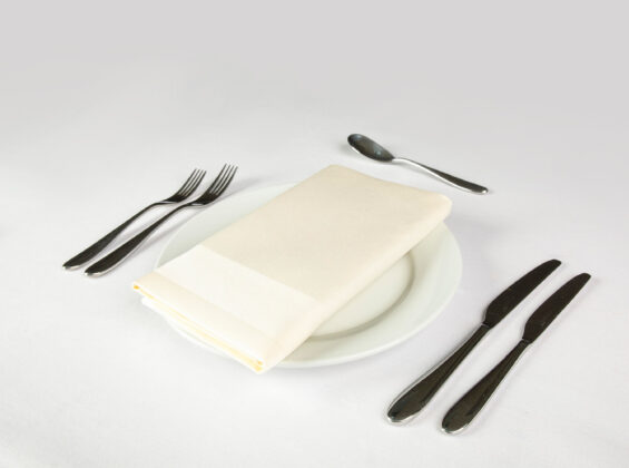 Ivory Satin Band Napkin