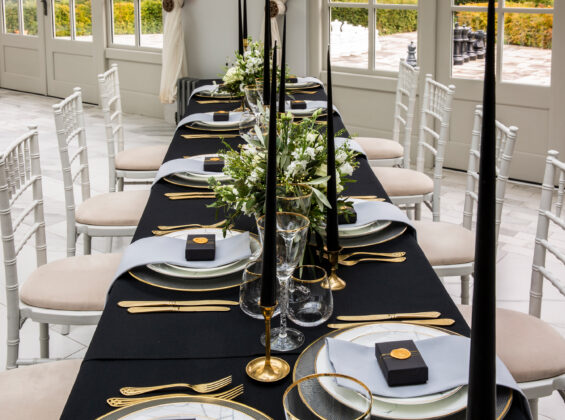 Jet Black table cloths
