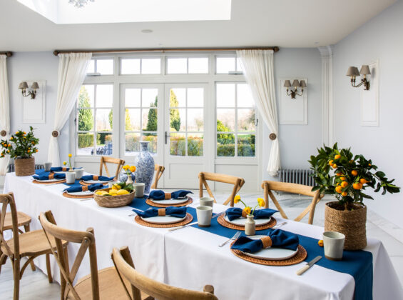 Oxford Blue Napkins and Table Runners