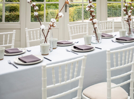Six place settings of Wild Truffle napkins