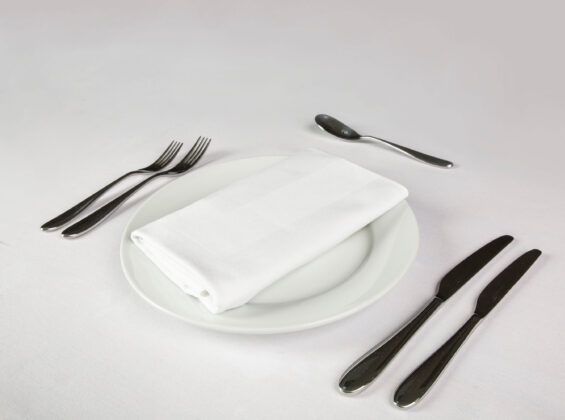 Satin Band White Napkin