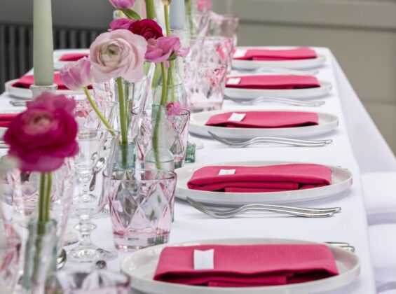 Arctic White with Pink Fuchsia